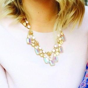 J. Crew sparkling pink and gold necklace
